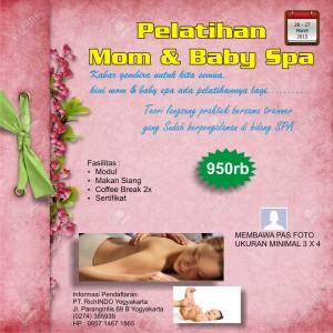 pelatihan mom and baby spa Maret 2015