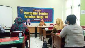 Pelatihan Bimtek Customer Servis Excelent Bagi LPK