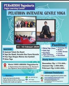 Jogja Learning Center Mengadakan PELATIHAN ANTENATAL GENTLE YOGA Bersertifikat