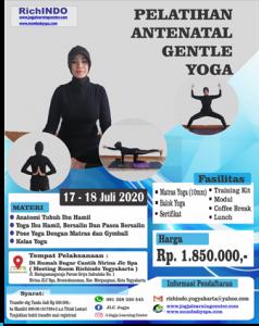 Pelatihan Antenatal Gentle Yoga Bulan Juli