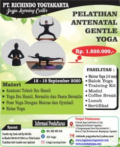 PELATIHAN ANTENATAL GENTLE YOGA BULAN SEPTEMBER
