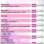 Daftar Menu Nirina JLC SPA Yogyakarta
