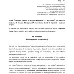 No Registrasi Partner dengan American Academy of Project Management