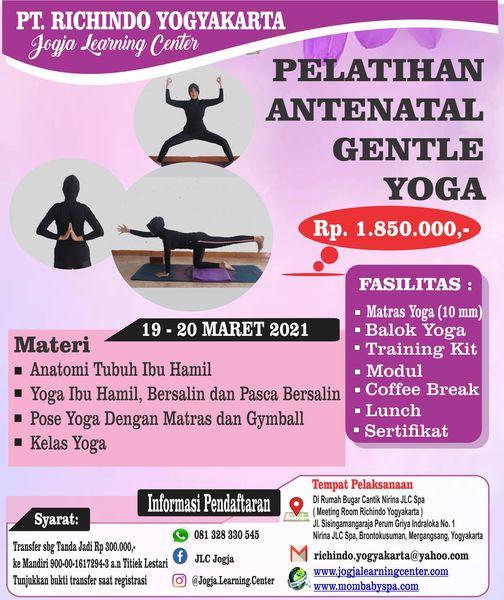 Pelatihan Antenatal Gentle Yoga